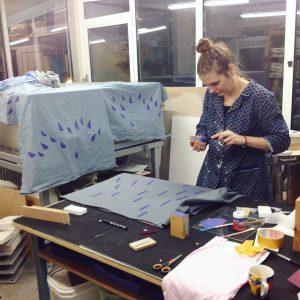 Niki stamping fabric