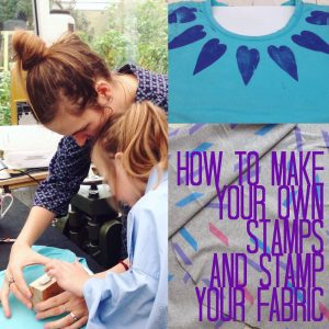 how to make your own stamps and stamp your fabric