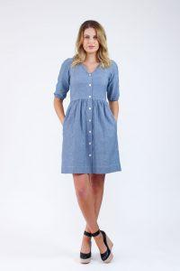 Darling Ranges shirtdress by Megan Nielsen