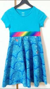 birthday dress: RTW shirt and half circle skirt