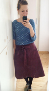 Lark tee and Miette Skirt