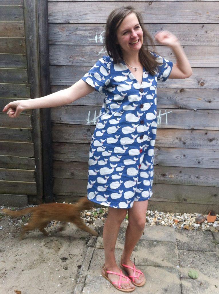 Megan Nielsen Patterns Darling Ranges shirtdress version 3